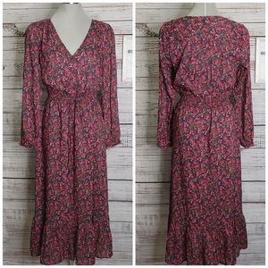 Lucky Brand floral maxi dress size M